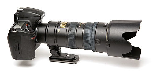 Figure 1. Nikon 70-200mm f/2.8 lens with D700 camera.