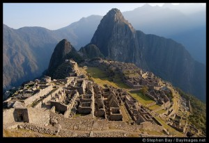 Sunrise over Machu Picchu Peru
