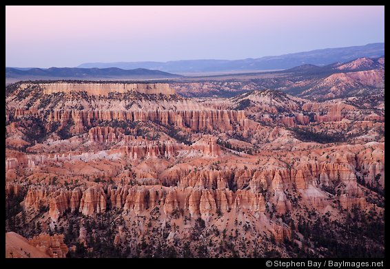Rows of hoodoos at Bryce Point. Bryce Canyon National Park, Utah.