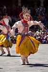 Durdag (Dance of the lords of cremation). Thimphu tsechu, Bhutan.