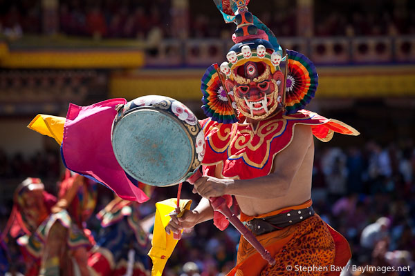 Dancer at the Thimphu Tsechu