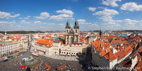 Panorama of Old Town Square. Prague, Czech Republic.