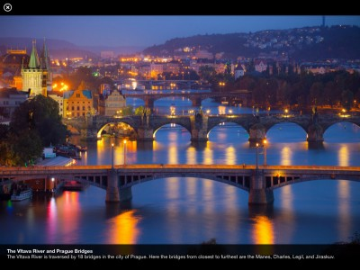 Fullscreen view of Vltava river image