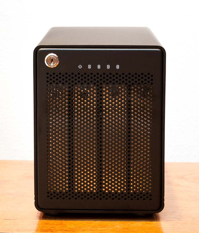 ThunderBay 4 - a four bay Thunderbolt 2 hard disk enclosure.