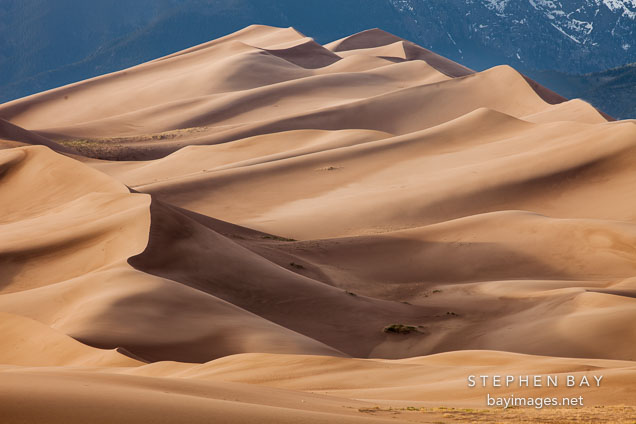 Towering dunes. Great Sand Dunes NP, Colorado.