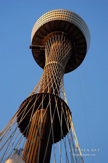 Sydney tower (AMP tower) from below. Sydney, Australia.