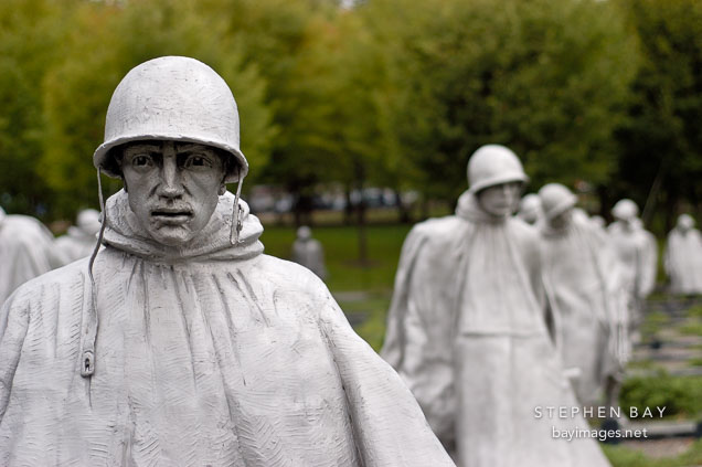 Korean War Veterans Memorial. Washington, D.C., USA.