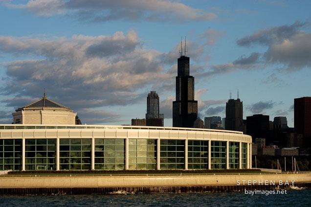 Photo Shedd Aquarium At Dawn Chicago Illinois Usa