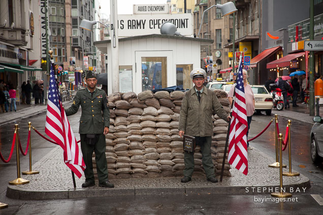 Checkpoint Charlie tourist attraction. Berlin, Germany.