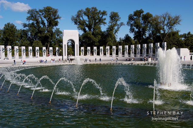 National World War II Memorial. Washington, D.C., USA.