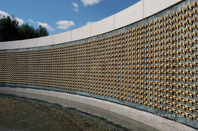 Freedom Wall at the National World War II Memorial. Washington, D.C., USA.