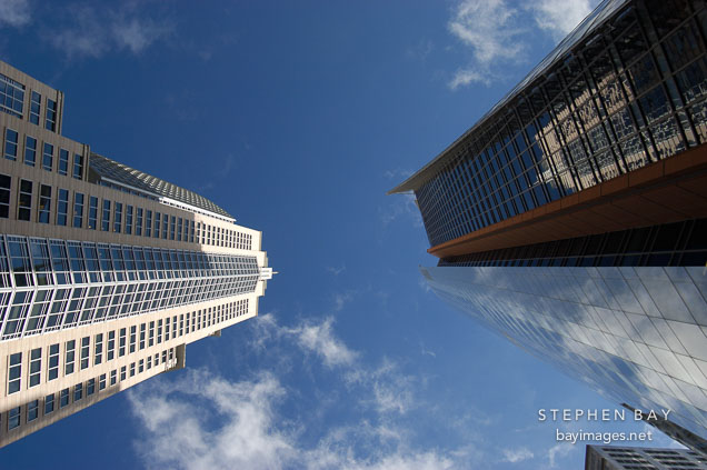 A pair of skyscrapers. Sydney, Australia.