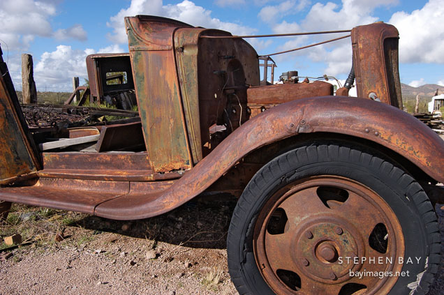 Dilapidated car. Goldfield, Phoenix, Arizona, USA.