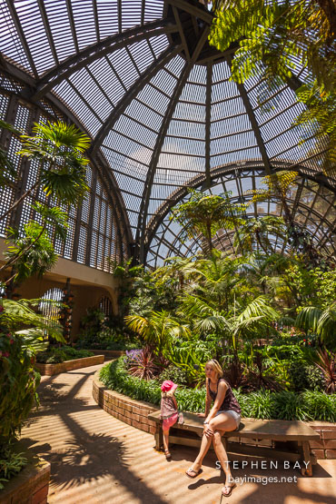Inside the Botanical Building. Balboa Park, San Diego.