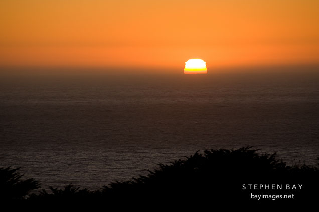 Big Sur sunset. California, USA.