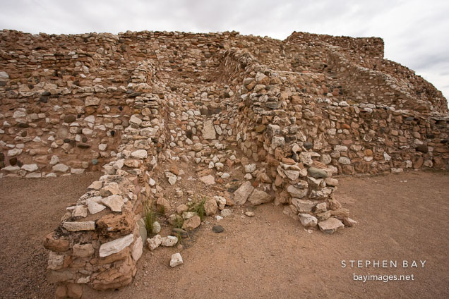 Tuzigoot is the remnant of a Sinagua village. Tuzigoot National Monument, Arizona, USA.