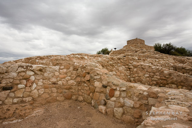 Tuzigoot is a three story complex of buildings. Tuzigoot National Monument, Arizona, USA.