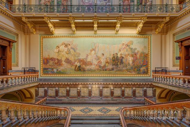 Photo The Painting Westward By Edwin Howland Blashfield