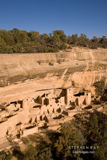 Cliff Palace, an Ancestral Puebloan village. Mesa Verde, Colorado.