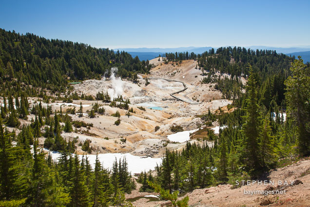Bumpass Hell. Lassen NP, California.
