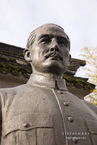 Photo Sculpture Of Dr Sun Yat Sen Vancouver Canada