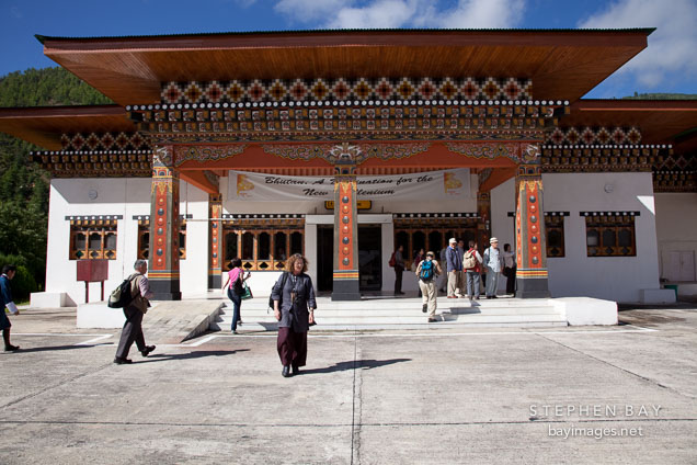 Boarding area of the Paro airport. Paro, Bhutan.