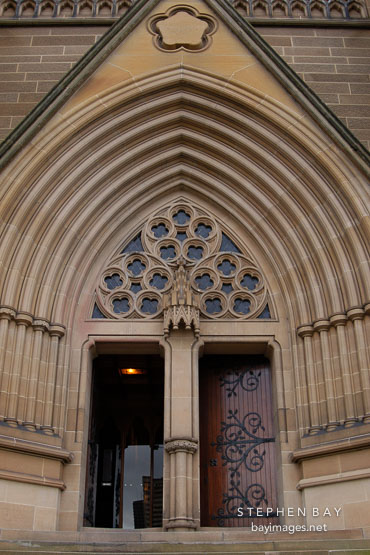Entrance to St. Mary's Cathedral, Sydney, Australia.