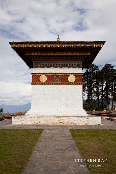 The main chorten. Dochu La pass, Bhutan.