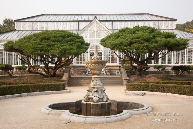 This botanical garden was built on the grounds of Cheonggyeong Palace in Seoul, South Korea. It was completed in 1909.