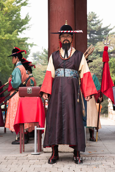 Captain of the guard at Deoksu Palace in Seoul, South Korea.