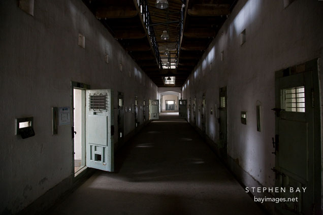 This foreboding hallway provided Japanese guard with access to the many cells that housed Korean prisoners in Seodaemun Prison in Seoul, South Korea.