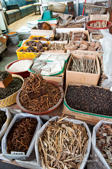 Gyeongdong Herbal Medicine market offers thousands of specialized herbs and spices for medicinal purposes.