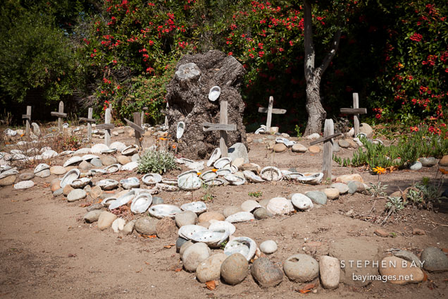 Carmel Mission cemetery. Carmel, California.