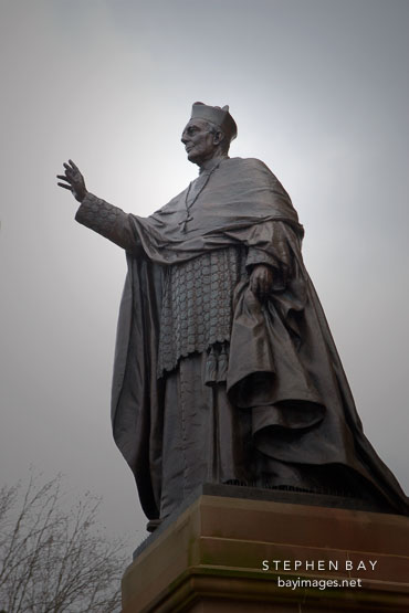 Statue of Cardinal Moran at St. Mary's Cathedral, Sydney, Australia.