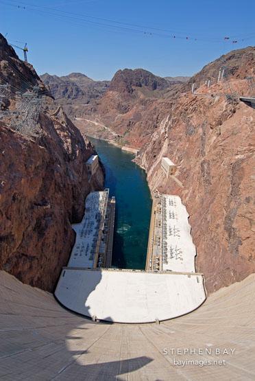 Hoover Dam and Black Canyon. Nevada and Arizona, USA.