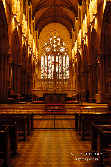 Inside St. Mary's Cathedral, Sydney, Australia.