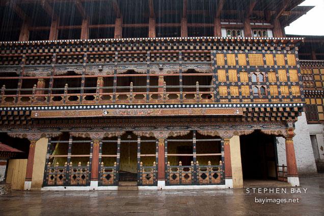Monastic quarter of Rinpung Dzong in Paro, Bhutan.