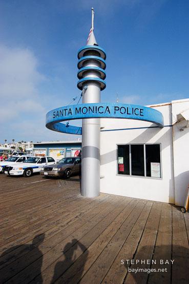 Police station. Santa Monica pier, California, USA.