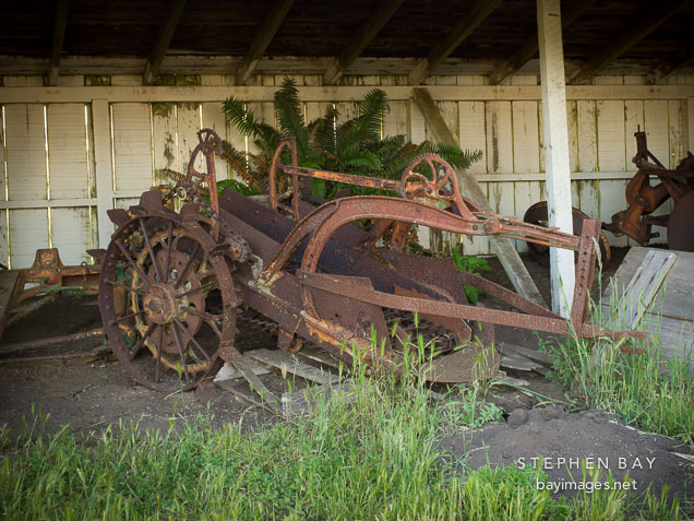 Plough at Pierce Point Ranch. Point Reyes, California.