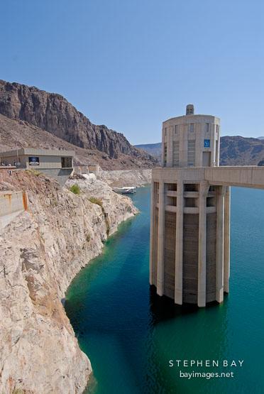 Intake tower. Hoover Dam, Nevada and Arizona, USA.