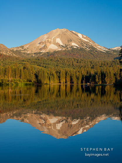 Mt Lassen and Lake Manzanita. Lassen NP, California.