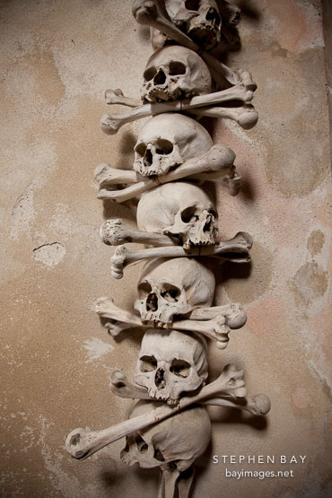 Skull and crossbones. Sedlec bone ossuary.
