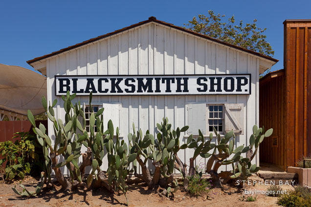 Blacksmith shop. Heritage Park, San Diego.