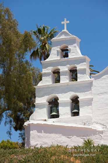 Campanile at Mission San Diego de Alcala.