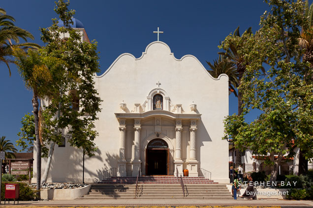 Catholic church of the Immaculate Conception. Old Town, San Diego.