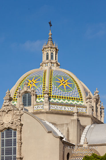 California Dome with mosaic tiles. Balboa Park, San Diego.
