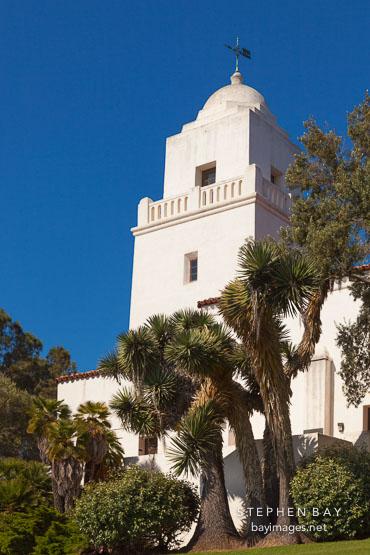 Tower at Junipero Serra museum. San Diego, California.