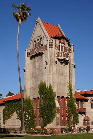 Tower Hall on the SJSU campus. San Jose, Californaia.