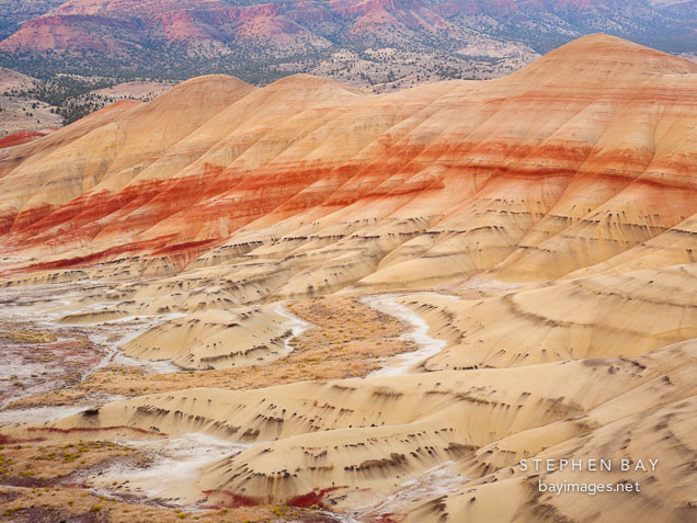 Painted Hills at the John Day Fossil Beds. Oregon.
