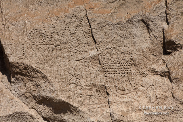 Petroglyphs at Tulelake, California.
